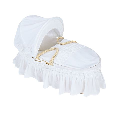 Moses Basket Coverlet And b baby nursery white moses basket with coverlet size moses basket ebay