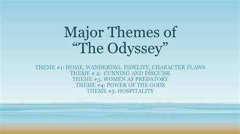 themes in book 4 of the odyssey major themes of the odyssey ppt video online download