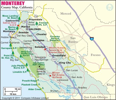 map monterey ca monterey county map map of monterey county california