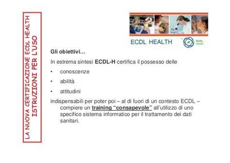 dispensa ecdl ecdl health dispensa
