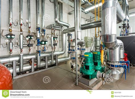 Boiler Room by Interior Gas Boiler Room With Pumps And Piping