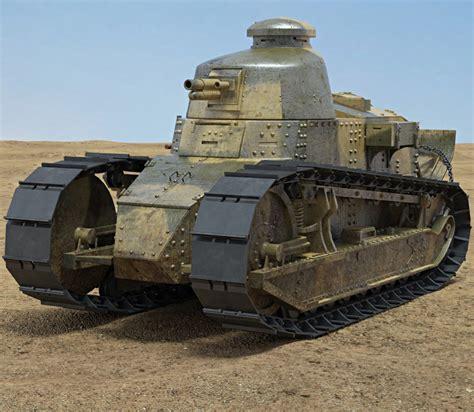 renault tank renault ft 17 3d model hum3d