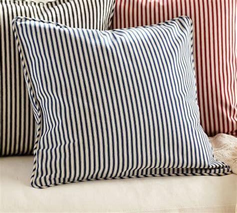 pillow ticking bedding thomas ticking stripe pillow cover pottery barn
