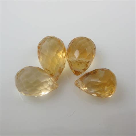 gemstone bead citrine quartz 2 pieces
