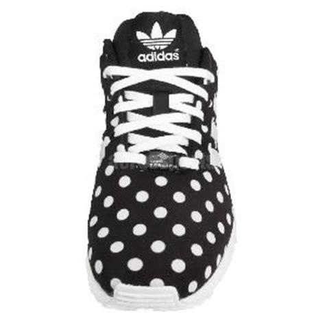Adidas Zx Flux Polkadot Black White adidas originals zx flux w polka dot black white womens