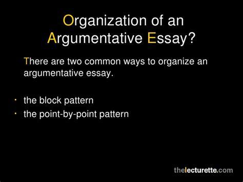 pattern of organization argument organizational pattern argumentative essay