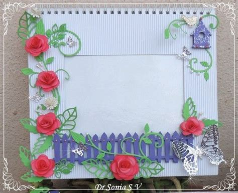 Handmade Paper Crafts Tutorial - 30 best images about handmade photoframe ideas on
