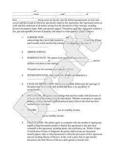 Divorce Settlement Agreement Letter Uk property divorce settlement agreement template are you