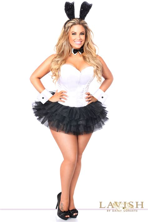 tuxedo bunny corset halloween costume