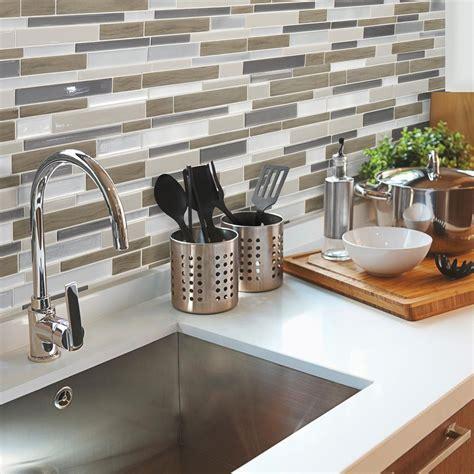 smart tiles backsplash review smart tiles idaho 9 85 in w x 9 85 in h decorative mosaic wall tile backsplash 6 pack sm1032