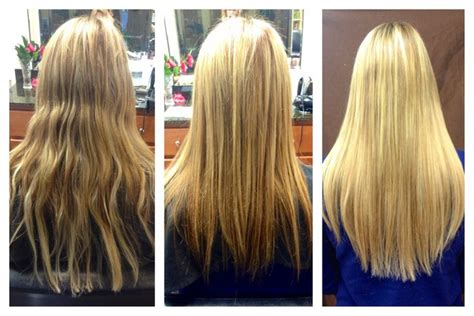 thin hair after extensions see what a difference quality extensions make before