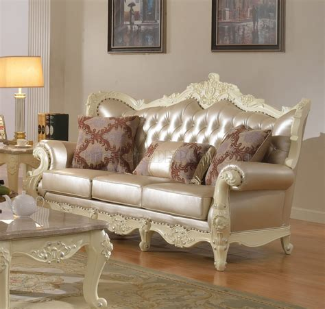 pearl leather sofa madrid sofa 674 in pearl bonded leather w optional items