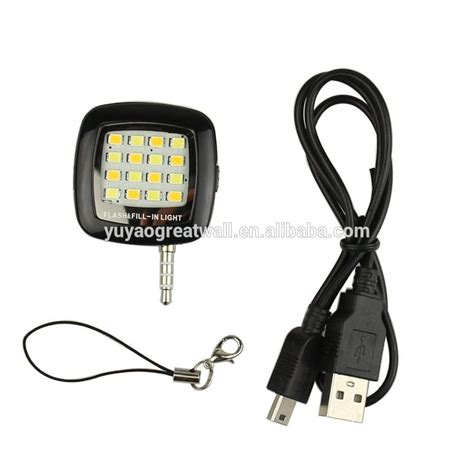 Lu Led Flash Light Mobil universal 3 5mm mini led flash fill in light for