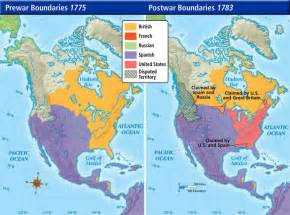 america 1783 map new borders the treaty of 1783