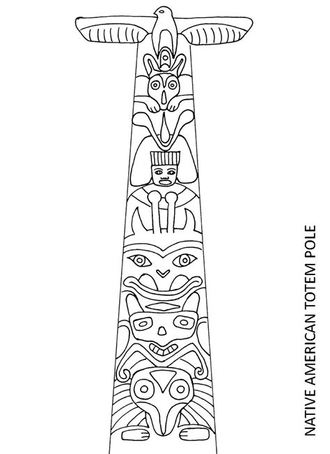 totem pole template totem pole coloring pages totem pole symbols coloring