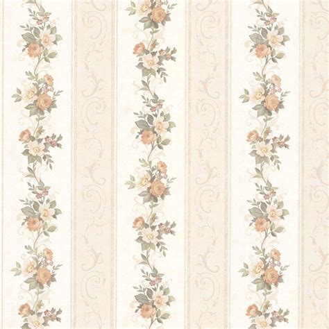 Tapete Englischer Stil by Mirage Lorelai Floral Stripe Wallpaper 992 68304