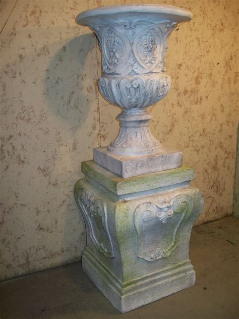 Urn Planters With Pedestal by Fallon Planter Urn Pedestal Base In Fiberstone