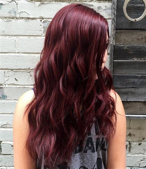 Red Violet Hair Colour