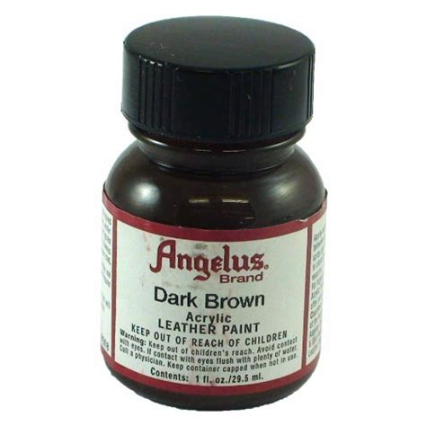 angelus paint refund angelus brown acrylic leather paint 1oz home garden
