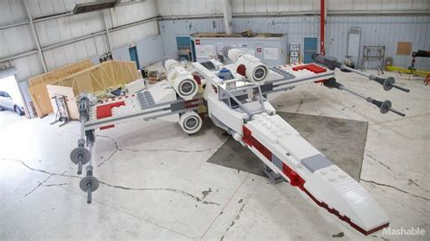 lego boat full size lego built an epic full size x wing geektyrant