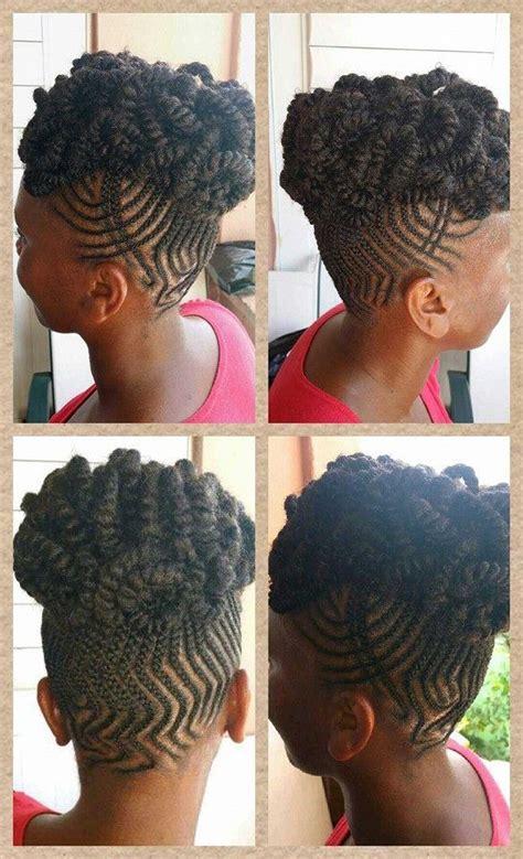 zig zag      cute  creative natural hair styles pinterest