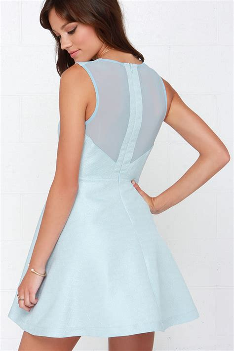 light blue fit and flare dress light blue dress skater dress fit and flare dress 89 00