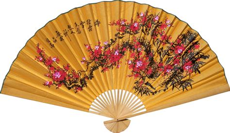 Orange Home And Decor by Chinese Wall Fans Lucky Blossoms
