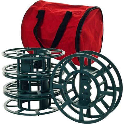 extension cords or christmas lights storage reel spools