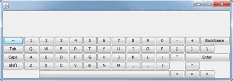 keyboard layout java java space button size on my layout keyboard won t