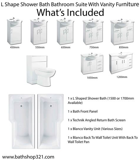 l shaped shower bath suite l shape shower bath bathroom suite with vanity furniture