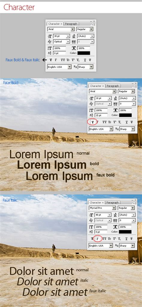 Text Decoration Italic by Photoshop Type Tool In Detail Tutorial Desk