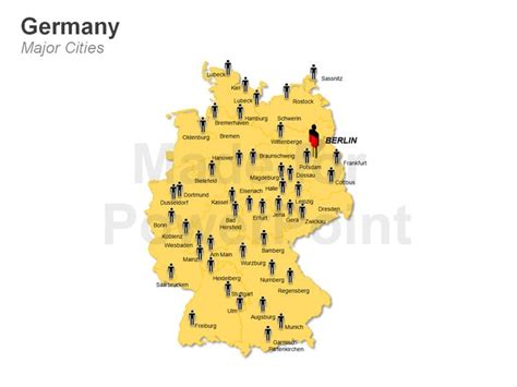 germany major cities map germany map of major cities