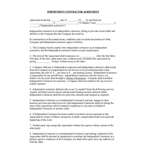contract agreement template 19 free word pdf document