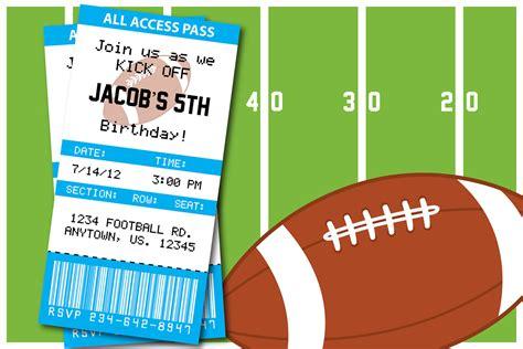 printable birthday invitations football theme football themed birthday party invitation thank you card