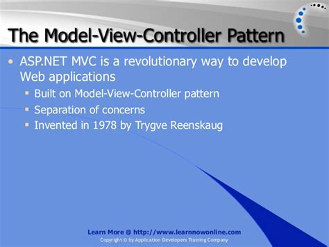 mvc pattern web applications introduction to asp net mvc