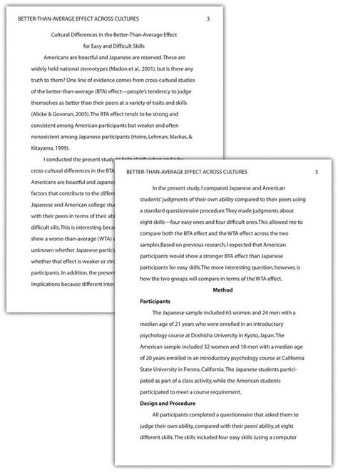 apa style sample papers 6th and 5th edition