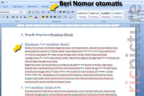 buat daftar gambar word contoh daftar isi cara membuat daftar isi di word 2007