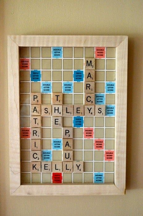make a scrabble board with names use the board scrabble to make a crossword with the