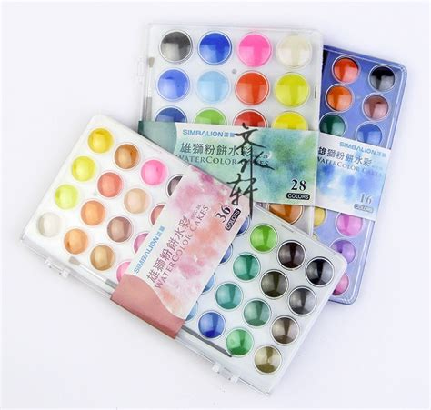 Simbalion Water Color 36 Colors taiwan simbalion 16 28 36 colors professional solid