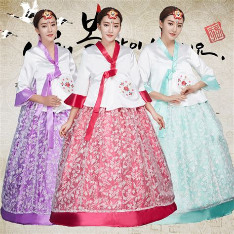 Hanbok Import Korea Free Sokchima 36 3 colors embroidery korean traditional dress hanbok korean national costume asian clothing
