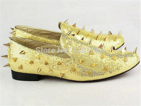 gold spiked loafers gold spiked loafers mens sneaker christian louboutin
