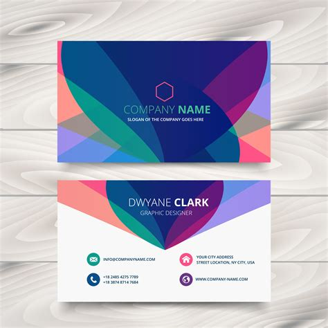 business card template present modern colorful business card template presentation design