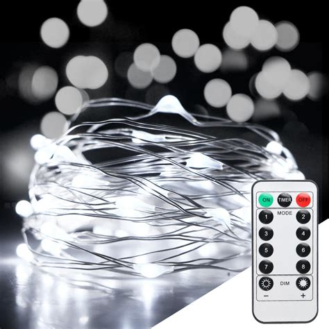 10m 100led Xmas Battery Operated Fairy String Lights Party Remote String Lights