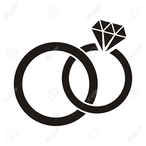 wedding ring clipart in black and white 101 clip