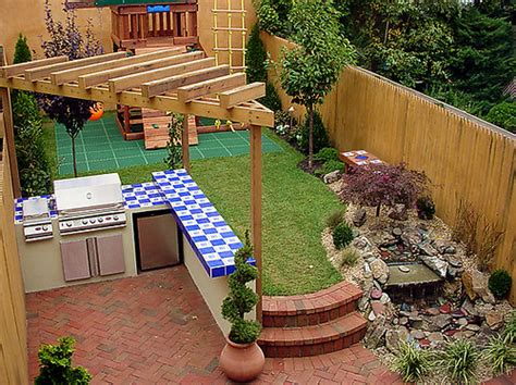 When planning small outdoor kitchen you need to consider how much you