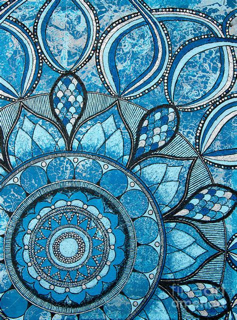 Home Inside Painting Design mandala of water element painting by home art