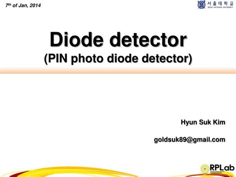 pin photodiode working principle ppt ppt diode detector pin photo diode detector powerpoint presentation id 1586187
