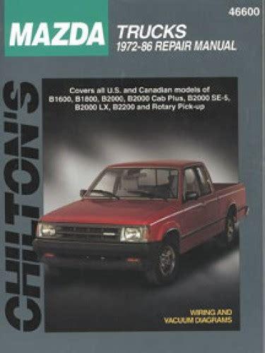 100 1985 mazda b2000 manual parts catalog free auto repair manuals page 3 100 mazda b4000 chilton mazda trucks 1972 1986 repair manual