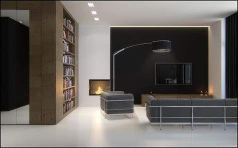 black brown white sophisticated living room interior