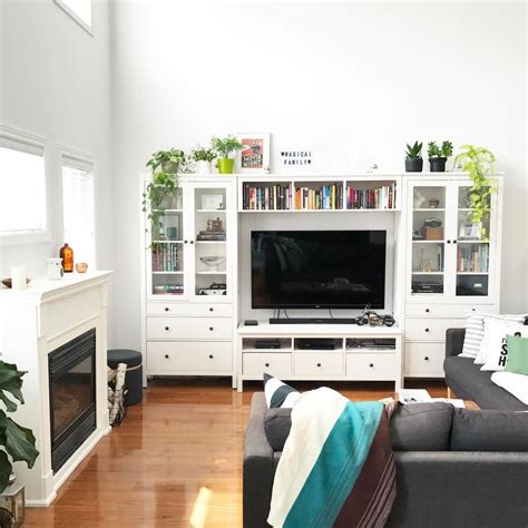 ikea living room units ikea hemnes wall unit white living room ikea hemnes
